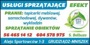 Pranie tapicerki samochodowej powiat grudziądzki EFEKT