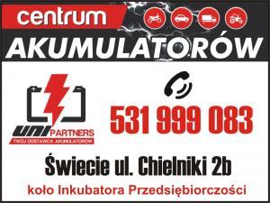 Dystrybutor akumulatorów Pruszcz Pomorski UNI PARTNERS