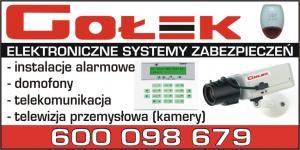 Systemy kontroli dostępu powiat tucholski GOŁEK ALARMY