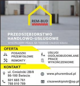Modernizacje budynków powiat świecki PHU REM-BUD