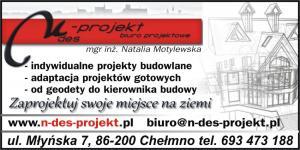 Adaptacja gotowych projektow budowlanych powiat chełmiński N-DES-PROJEKT