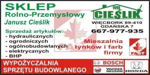 Wypożyczalnia sprzętu budowlanego powiat sępoleński SKLEP CIEŚLIK