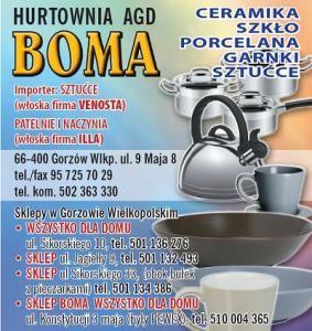 Importer naczyń ILLA Gorzów Wielkopolski BOMA