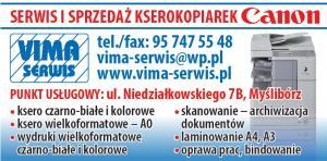 Serwis kserokopiarek Kostrzyn nad Odrą VIMA-SERWIS