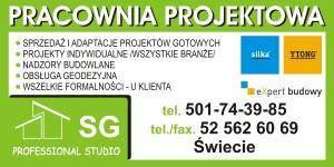 Pracownia projektowa powiat świecki  SG PROFESSIONAL STUDIO