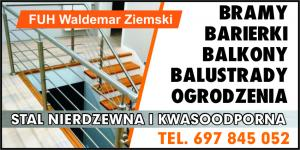 Balustrady stalowe powiat sępoleński WALDEMAR ZIEMSKI