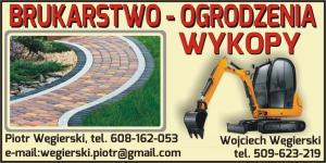 Układanie kostki granitowej powiat sępoleński  PIOTR WĘGIERSKI