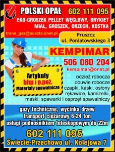 Artykuły BHP i PPOŻ  Serock PHU KEMPIMAR