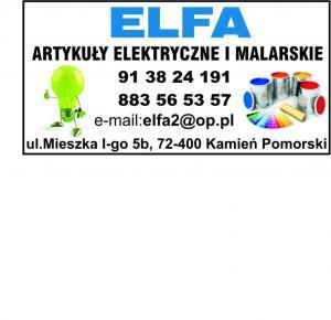Artykuły malarskie powiat kamieński ELFA