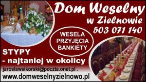 Dom weselny powiat grudziądzki ZIELNOWO