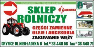 Części do maszyn rolniczych powiat gryficki ŻANKOWSKA
