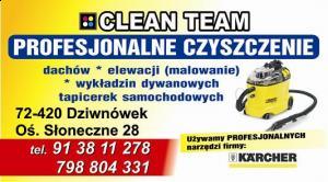 Czyszczenie tapicerki - dywanów powiat kamieński CLEAN TEAM