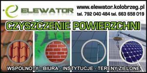 Czyszczenie elewacji szklanych powiat kołobrzeski ELEWATOR