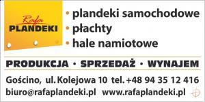 Plandeki samochodowe - producent Kołobrzeg RAFA PLANDEKI